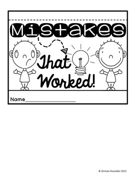 Mistakes That Worked! Cause and Effect Flip Book by