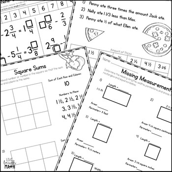 Add, Subtract, & Multiply Mixed Numbers Enrichment: Math