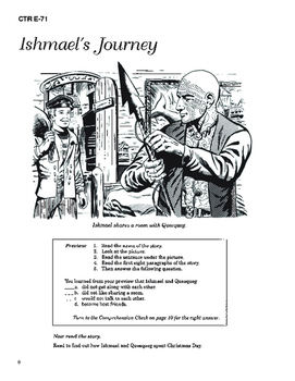 Moby Dick 10 Chapter Novel with Student Activities and