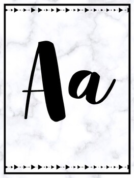 Modern Marble Cursive Alphabet Posters by Erica Hernandez
