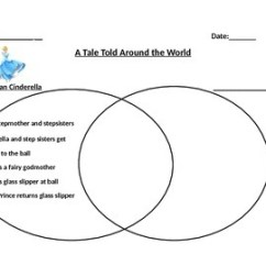 Venn Diagram Graphic Organizer How To Draw A Network Modified For Cinderella By Grades 4 6 Products