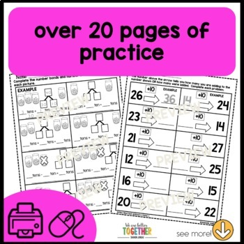 Math Worksheets 1st Grade [add and subtract tens & add