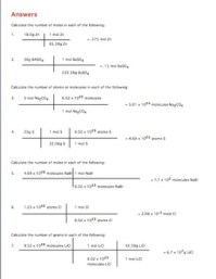 Moles Molecules And Grams Worksheet. Worksheets