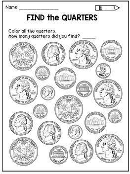 Money Worksheets: Coin Identification Activities by Dana's