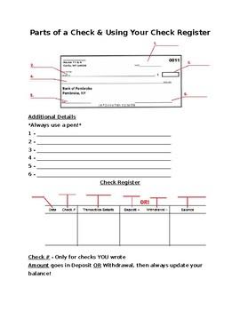 Parts Of A Check Diagram : parts, check, diagram, Money, Management, Check, Writing, Packet, Activities,, Parts, Check,