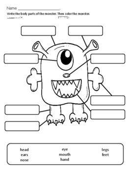 Partes Del Cuerpo Worksheet. las partes del cuerpo by