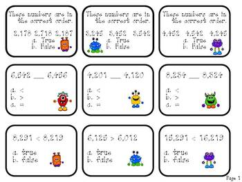 Monster Mash Math Game{A Comparing and Ordering Numbers