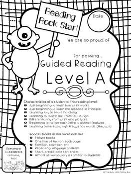 Monster Milestones in Guided Reading! Adorable Reading
