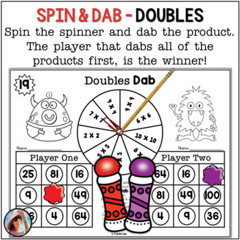 Multiplication Games ~ 25 Print and Play Bingo Dabber