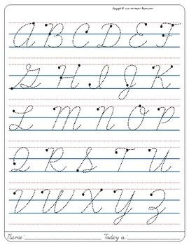 Capital Cursive A : capital, cursive, Montessori, Tracing, Small, Cursive, Letters, Letter, Uppercase.
