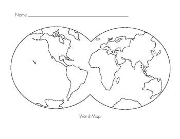 Montessori World Map Extension Paper by The Montessori