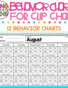 Monthly behavior charts for clip chart editable also by longwing montessori rh teacherspayteachers