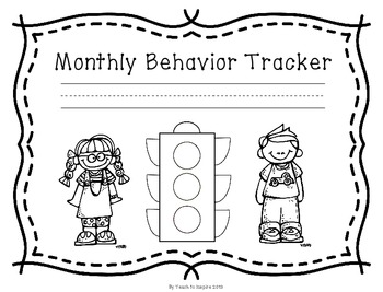 Monthly Behavior Tracker: Stoplight Edition by Lit for