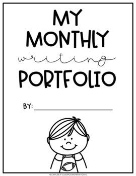Elementary Monthly Journal Writing Portfolio for Grades K
