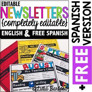 Free editable teacher newsletter template. Completely Editable Monthly Newsletter Templates English Plus Free Spanish