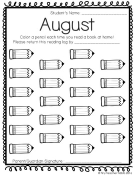 Monthly Themed Reading Logs {Color by Book or Minute} by