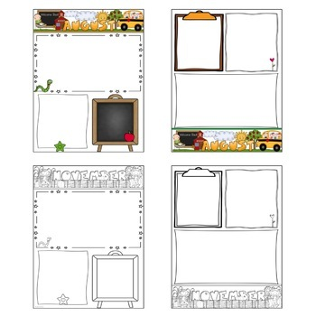 Monthly Templates for Your Newsletter- EDITABLE- by My