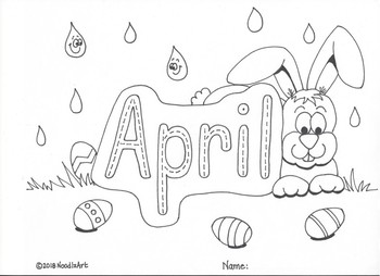 Months of the Year Tracing and Coloring Pages by NoodlzArt