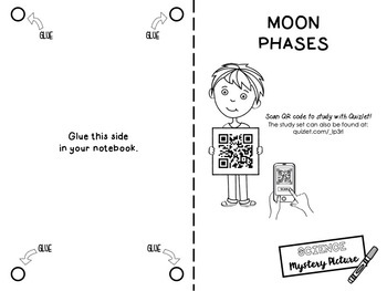 Moon Phases: Science Mystery Picture by Mata Math and