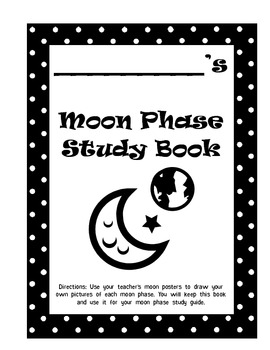 Moon Phases Student Booklet Common Core 4.E.1 by Clowning