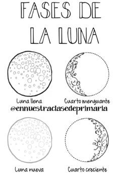 Ejercicio de las Fases de la Luna Moon Phases Worksheet