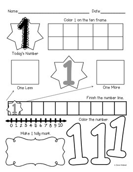 More Common Core {Numbers 1 to 10} by Kinderlove and