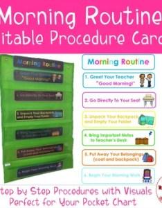Morning routine procedure cards editable by for the love of teachers shop also rh teacherspayteachers
