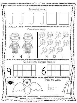 FREE Kindergarten Morning Work {October} by The Barefoot