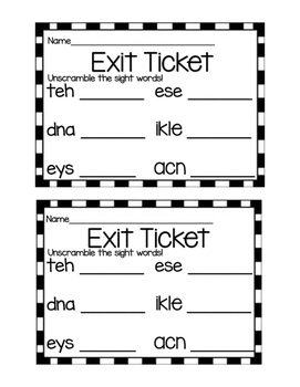 Morning Work / Exit Tickets by Little Miss Loves to Teach
