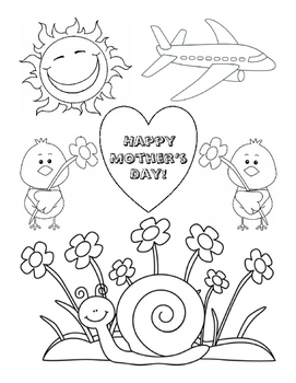 Mother's Day Coloring Fine Motor Skills Life-Skills Art
