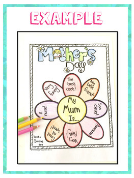 Mother's Day Craft Printable Flower Activity by Unique