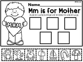Mother's Day NO PREP Kindergarten Language Arts Pack