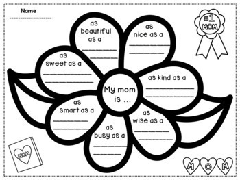 Mother's Day Writing Activities for Grades 3-5 by Dana's