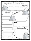 Story Mountain Graphic Organizer Teaching Resources