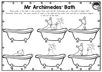 Mr Archimedes' Bath ~ A week of reading activities by Miss