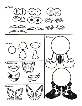 Mr. Potato Head Pieces for plant cups by Little Priorities