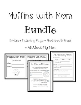 Muffins with Mom Invites Coloring page All about Me by The