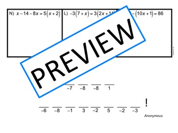 Multi-Step Equations: Decode the Quote by Activities by