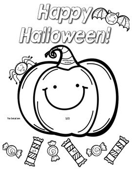 Multi-Step Equations Halloween Color Page Activity by 8th
