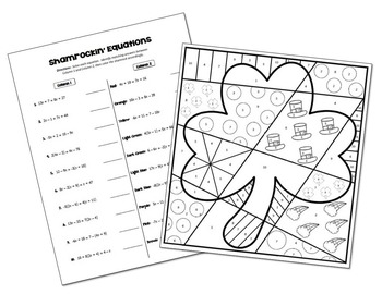 Multi-Step Equations Coloring Activity by All Things