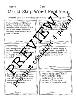 Multi-Step Word Problems: Mixed Operations by Alexandra