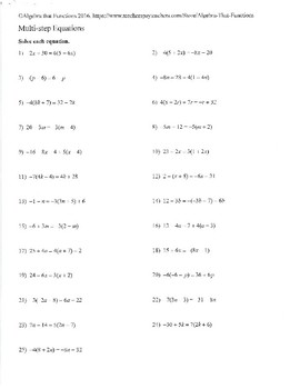 Equations Infinite Solutions, No Solution, and Integer