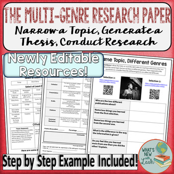 Multi Genre Research Paper Project By Leah Cleary TpT