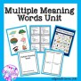 Multiple Meaning Words Activities Games Task Cards And