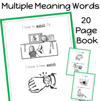 Multiple Meaning Words Book (20 pages) by Sailing Through