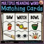 Multiple Meaning Words Matching Cards By Nyla S Crafty
