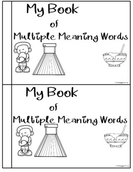 Multiple Meaning words An emergent reading book by Fun and