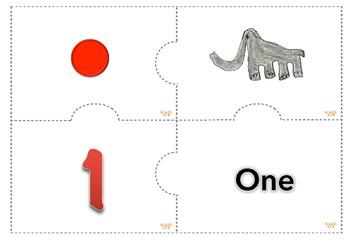 Multiple Representation Numbers 1-10 Math Center Aligned