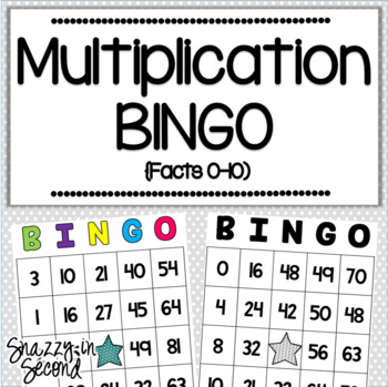Multiplication BINGO (Facts 0-10) by Erin Stephan Snazzy