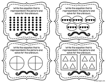 Multiplication & Division Arrays & Pictures Task Cards by
